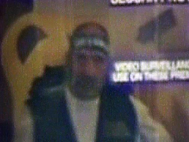 Chilling CCTV footage .... shows Monis during the terrifying Martin Place siege Picture:
