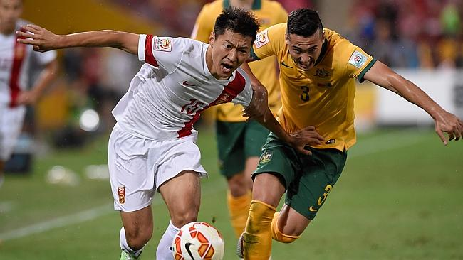 China made life very tough for the Socceroos in the first half.