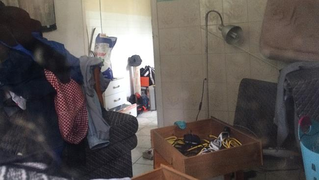 Inside the Fairfield granny flat raided by police yesterday. Two men have been charged wi