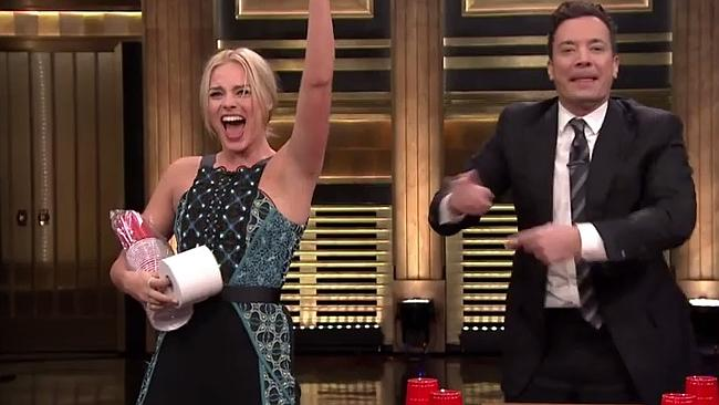 Margot Robbie was awarded toilet paper and a set of plastic cups for her efforts. Lucky g