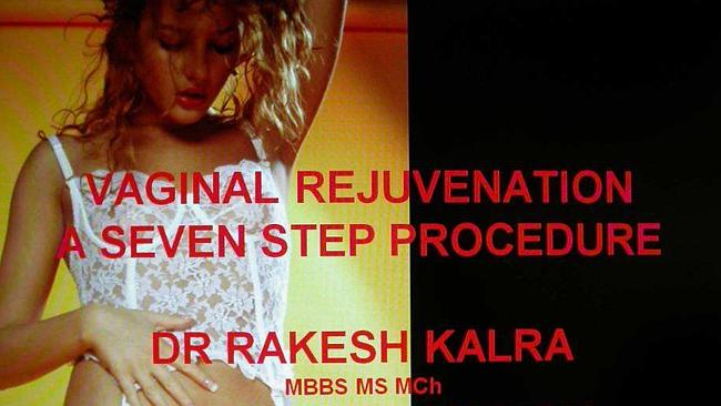 An image from a controversial presentation by Dr Rakesh Kalra - this is a cropped version