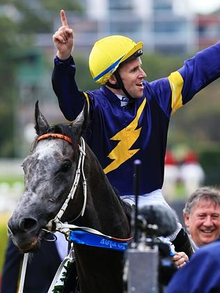 Tommy Berry celebrates after Chautauqua's stunning win. Picture: Mark Evans