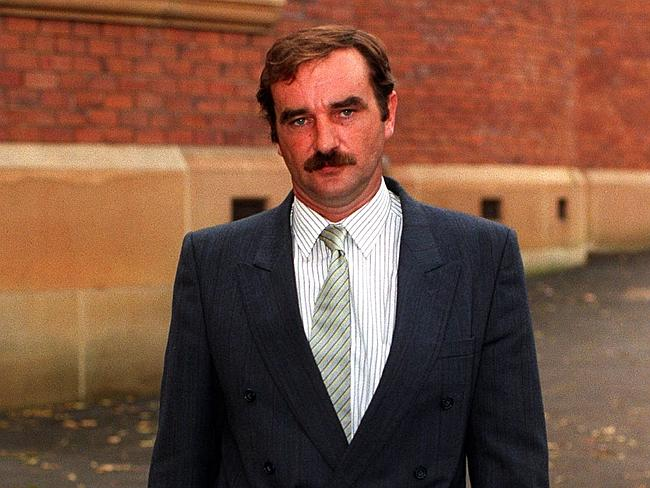 Family ties ... Richard Milat, the brother of Ivan Milat, leaves court.