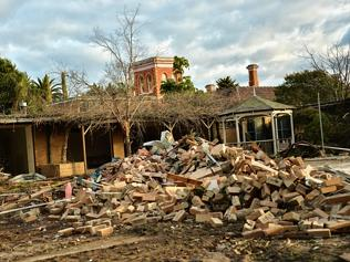 The Frogmore House site when demolition began earlier this month.