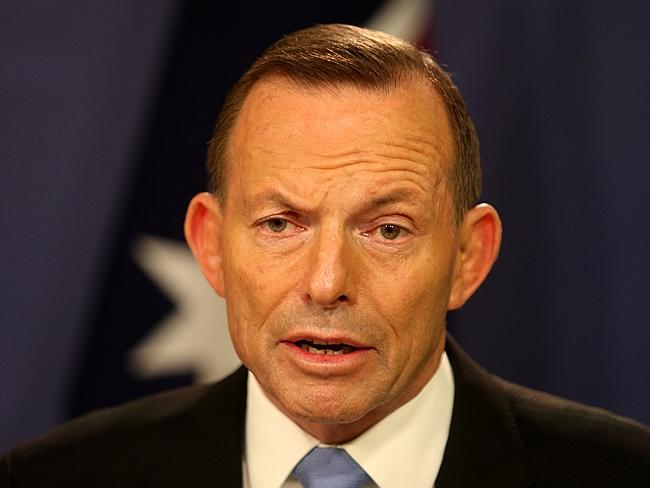 Prime Minister Tony Abbott delivered the news in Sydney on Sunday. Picture: Adam Taylor