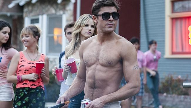 Prepare to see more of this bare chest ... Zac Efron is reportedly in talks to join the B