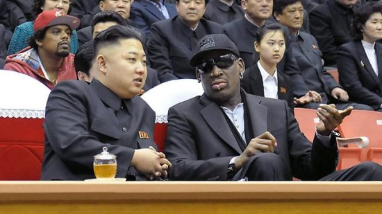 Rodman and his little buddy