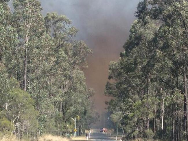 Fire pic from Twitter. Tweeted by Journo Lizzie Pearl of the Castlereagh bush fire
