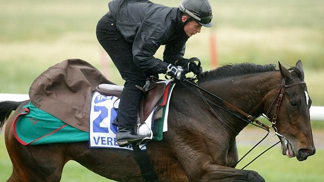 Antoine Creton puts Verema through his paces at Werribee trackwork.