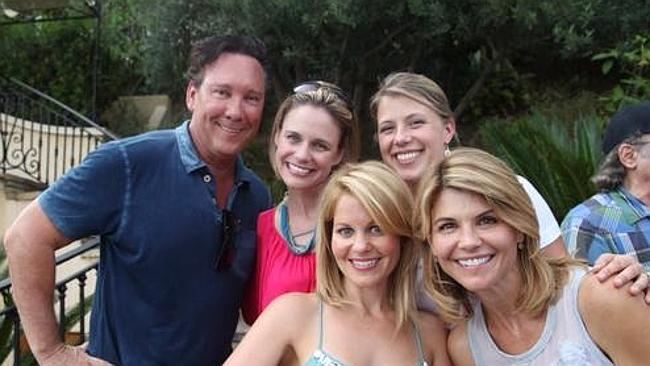 The Full House girls with creator Jeff Franklin. Photo: Twitter/@fullhouseguy