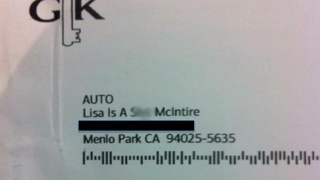The letter a shocked customer received from Bank of America. Picture: Lisa McIntyre, Twitter.