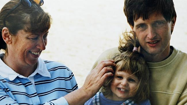 Anna Marie Kemp with husband John Sharpe and daughter Gracie. This was the last picture t