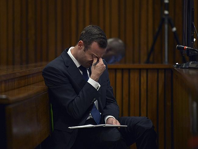 Stressful ... Oscar Pistorius has displayed his emotions during the trial, which does not