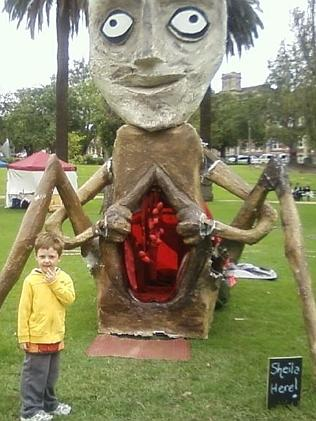 This sculpture was on display in Johnstone Park at the weekend for the Figment exhibition