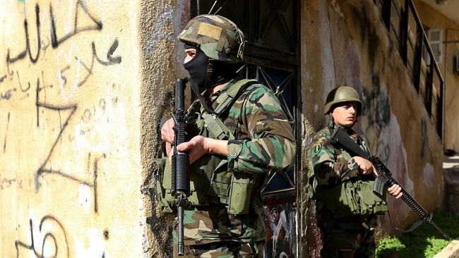 Soldiers take their positions in Beirut, on of War Zone Tours' destinations. Picture: AP