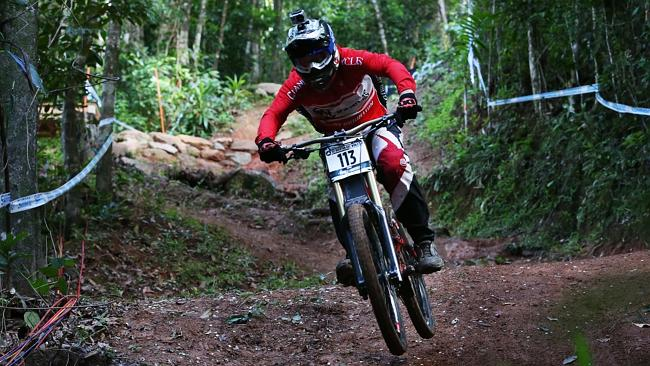 The elite downhill riders of the UCI Mountain Bike World Cup hit the course for the first