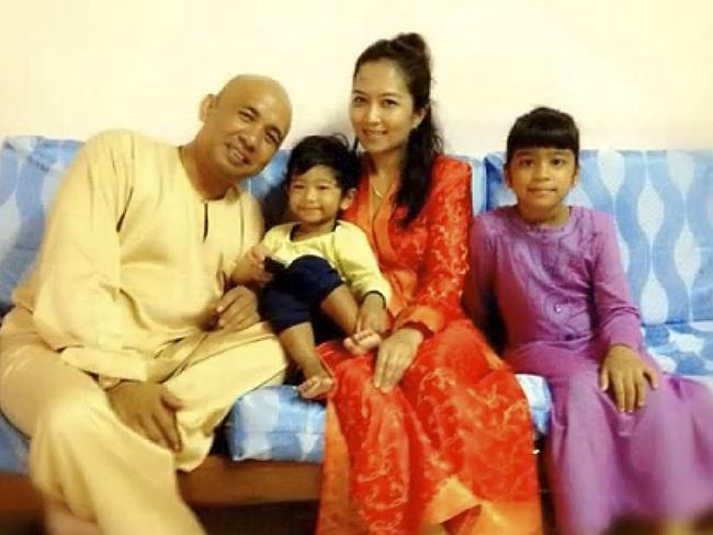 Happy family ... A screen capture from a You Tube tribute for Malaysian Airlines pilot Ca