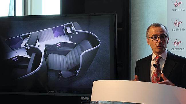 Virgin Australia CEO John Borghetti launches the airline's new business class suites.