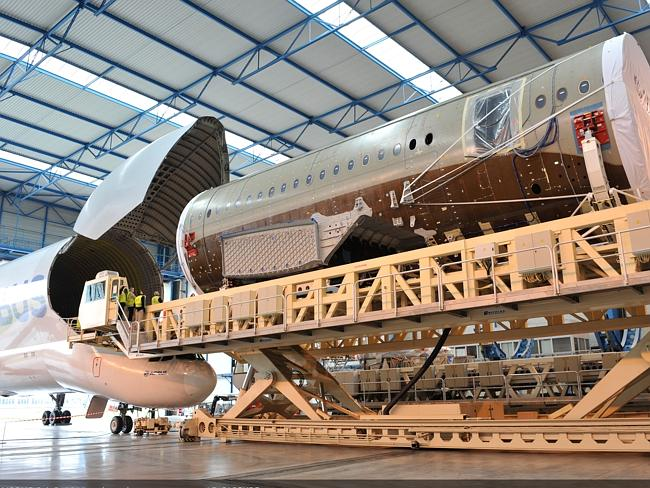 Aircraft pieces arriving at Toulouse, France. Picture: Airbus.