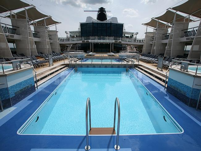 The spacious pool deck. Picture: Supplied.