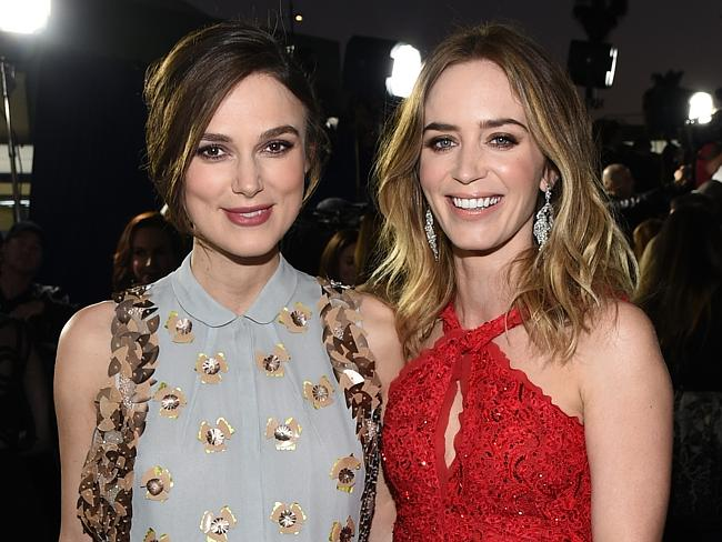 Brit actresses Keira Knightley and Emily Blunt.