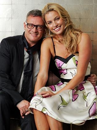 Jayson Brunsdon with model Kristy Hinze, who will be godmother to his son Roman.