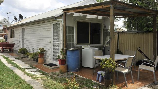 The granny flat and car on Riverview street in Fairfield. Picture: Supplied