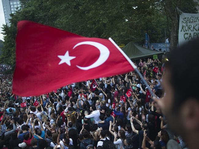 Discontent ... anti-government protesters demonstrate at the Gezi park in Taksim Square,