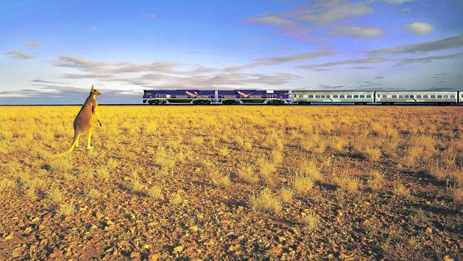 The Indian Pacific train on the Nullarbor Plain. Picture Supplied