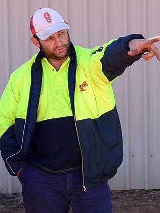 Local Leeton resident Brendan Lyons saw a man throw a laptop into the canal. Picture: Jer
