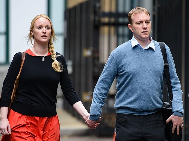 Tom Hayes was supported by his wife Sarah at Southwark Crown court in London.