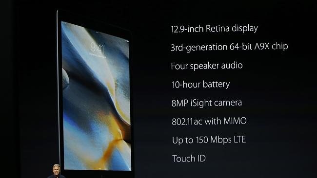 The specs for the new iPad Pro.