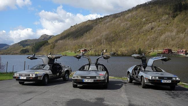 These three DeLorean DMC-12 cars have been held in customs for nearly a week after arrivi