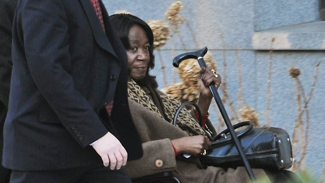 President Barack Obama's aunt, Zeituni Onyango, at a closed immigration hearing last year. Onyango, half-sister of Obama's late father, moved to the United States in 2000 and she was ordered deported in 2004. Source: AP