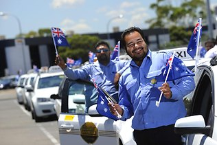 Adelaide taxi drivers flying the flag