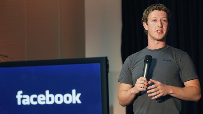 Facebook CEO Mark Zuckerberg wears the same grey t-shirt every day. Picture: AP