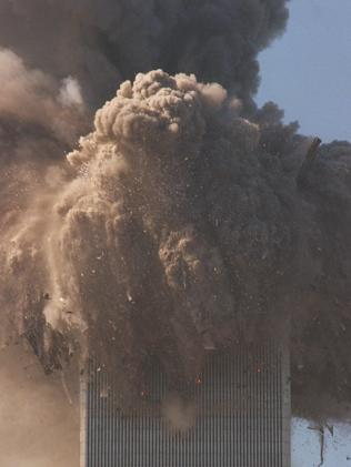 The North tower was hit first and collapsed second, possibly because it was hit higher