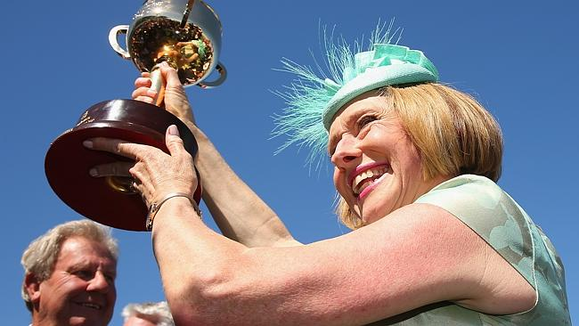 Cup-holder ... Gai Waterhouse is the first Australian woman to train a horse to Cup victory. Picture: Getty Images