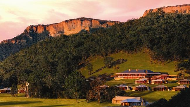 Wolgan Valley Resort in the Central West of NSW. Picture: Supplied
