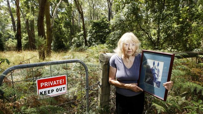 June McCausland's horse was buried at the Koala Park pet cemetery. Picture: Paul ...
