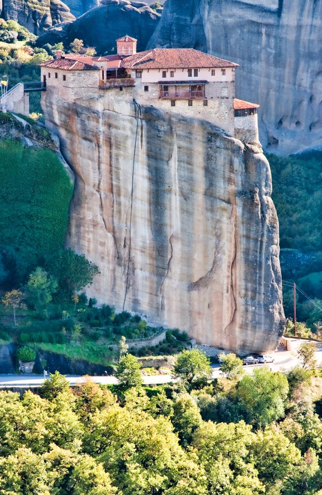 Meteora is high above.