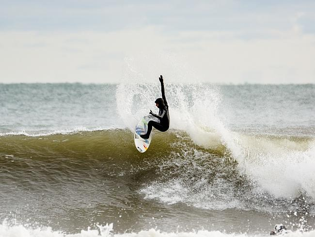 Sally has been surfing most of her life and has landed several championship titles.