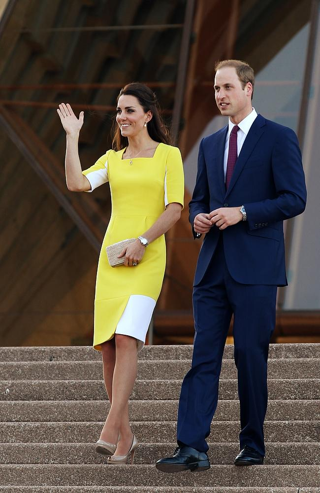 The Duke and Duchess of Cambridge, Prince William and Duchess Kate visit the Sydney Opera