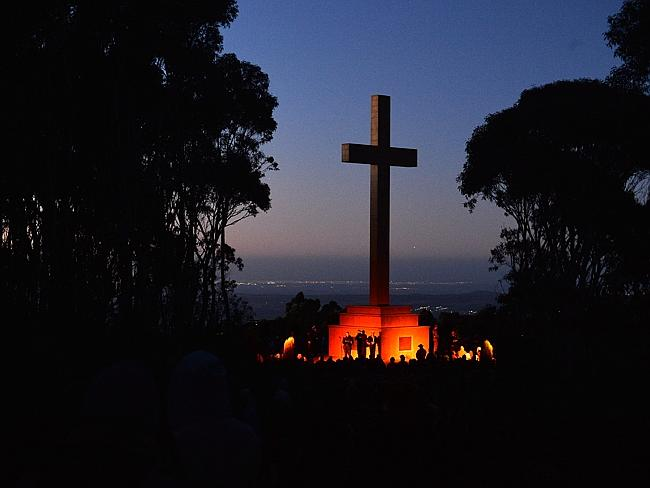 The Memorial Cross at Mount Macedon, Victoria.
