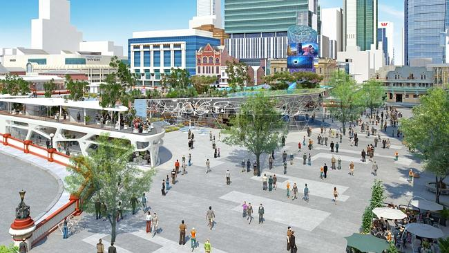 An artist's impression of the new City Square development.