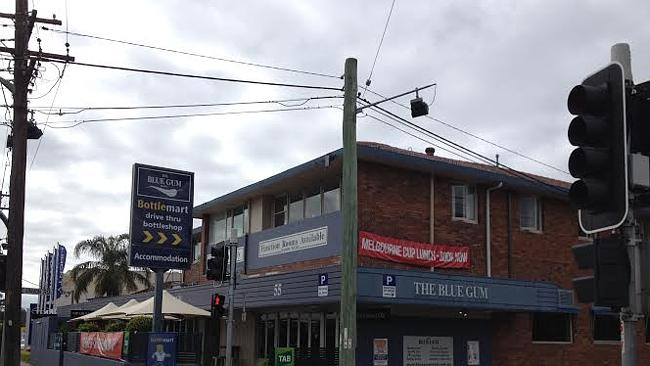 The Blue Gum Hotel at Waitara was held up on October 20.