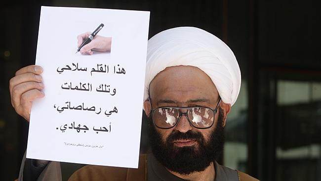 "Pic of Sheikh ""man Monis"" Haron charged with writing offensive letters to widows and fami"
