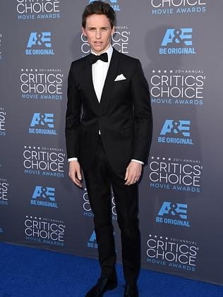 Eddie Redmayne arrives at the 20th annual Critics' Choice Movie Awards at the Hollywood P