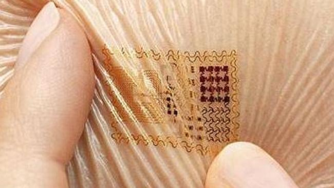 US company MC10 produces digital tattoos that collect data. Picture: Screengrab MC10.