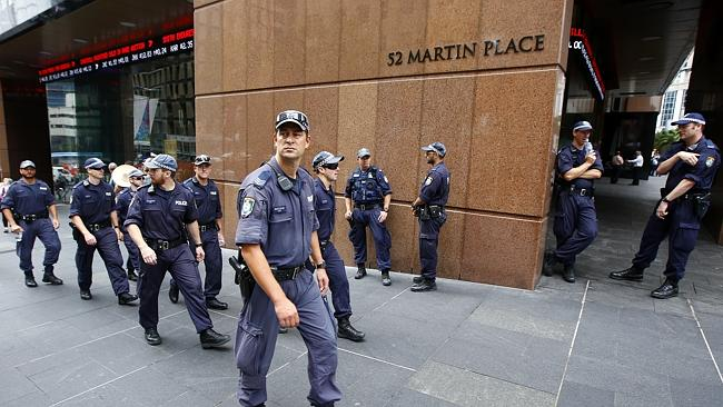 A terror plot foiled last year allegedly involved kidnapping a person from Martin Place a